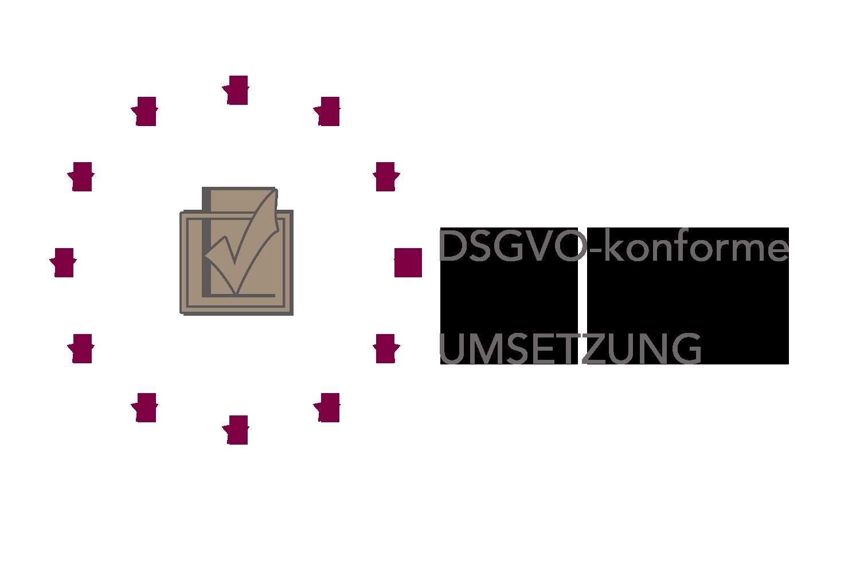 Logo zur DSGVO-konformen Umsetzung der neuen Datenschutzrichtlinie