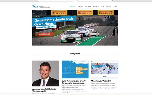 VSA Screenshot der neuen Webseite die durch die Werbeagentur Medien Formen Werte aus Münster erstellt wurde